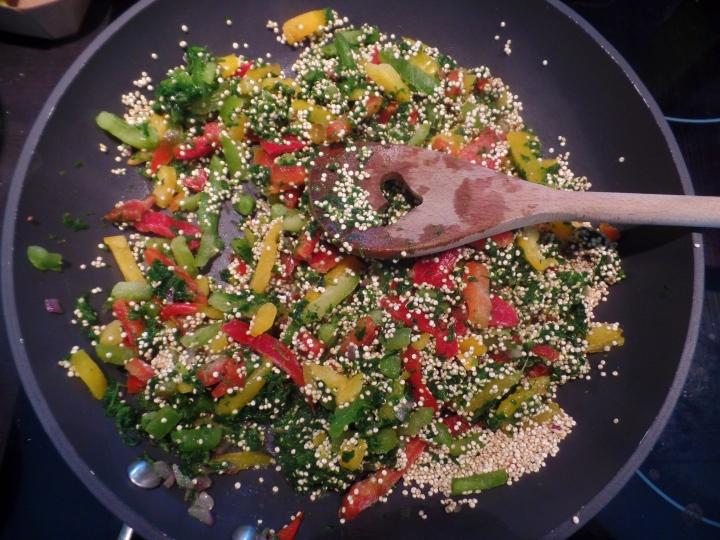 Quinoa épinards-poivron #façonRISOTTO
