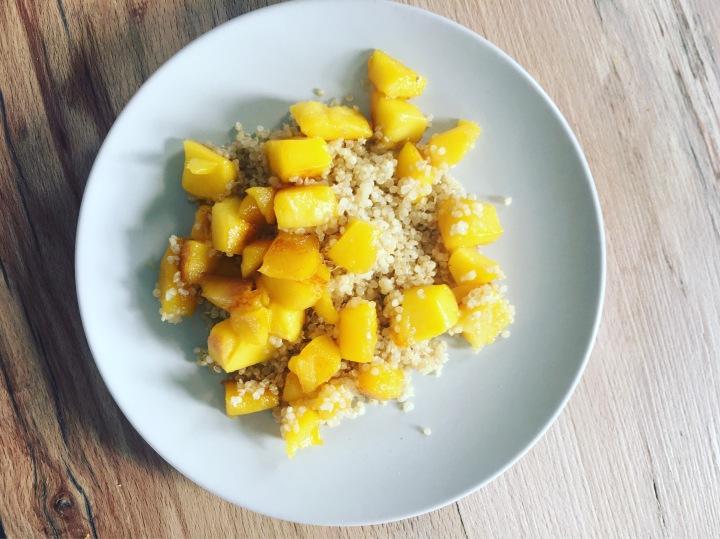 Quinoa au miel et mangue Grillée#babymum